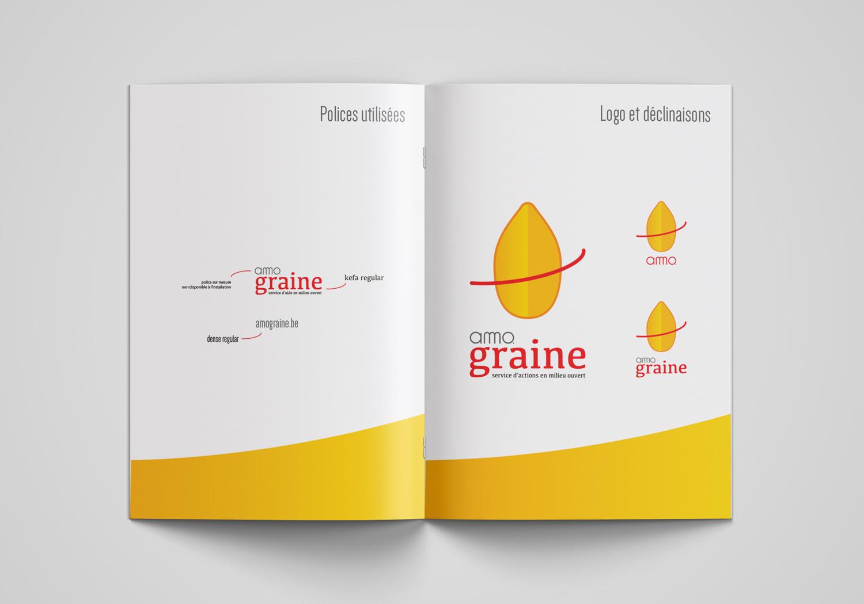 AMO graine - Logo + identité visuelle